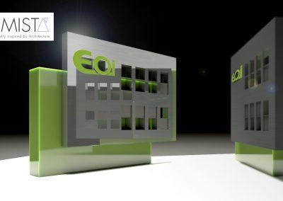 Pin renderizado con logo EOI_ Arkimista